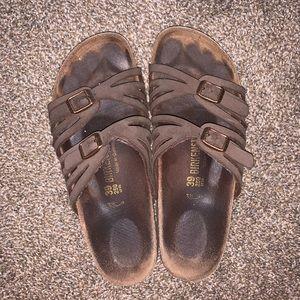 Birkenstock GRANADA sandals - brown leather